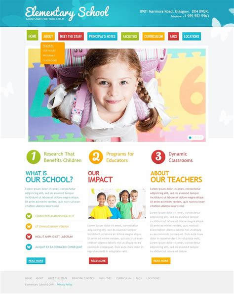 primary school website template 36118