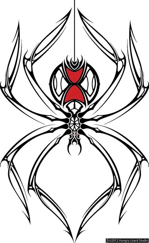 20 black widow tattoo designs