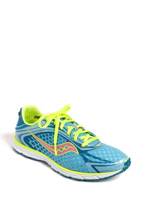 saucony athletic shoes saucony grid type a5 running shoe in blue blue citron