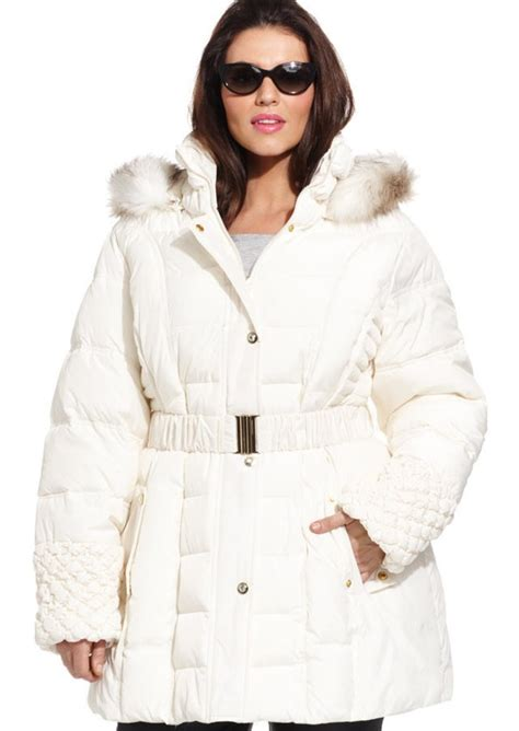 Betsey Johnson Quilted Jacket by Betsey Johnson Betsey Johnson Plus Size Faux Fur Trim