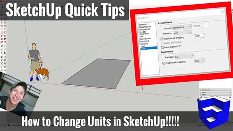 sketchup layout feet and inches how to change the units of measure in sketchup feet to