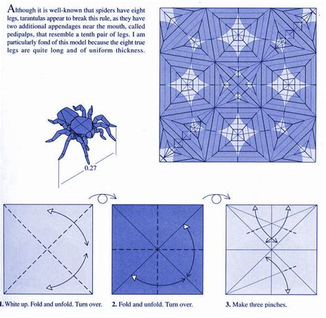 Robert J Lang Origami Diagrams - tarantula by robert lang