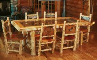 Log Dining Room Sets Diningroom Rustic Furniture Mall By Timber Creek