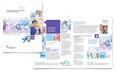 Cancer Treatment Brochure Template Design Cancer Brochure Template
