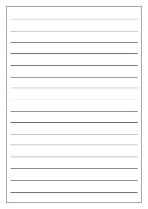 rule card wide lines template