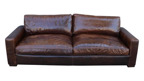 restoration hardware maxwell leather sofa chairish