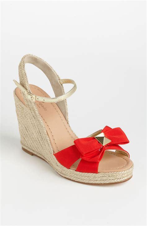 Sandal Wedges Kate Spade kate spade carmelita wedge sandal in grosgrain