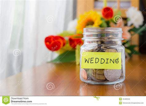wedding money saving money for wedding stock photo image 45486556