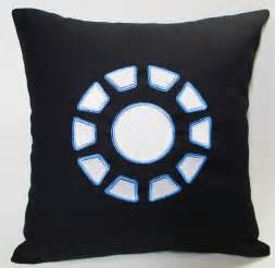 Iron Pillow by Arc Reactor Iron Inspired Embroidered Pillow