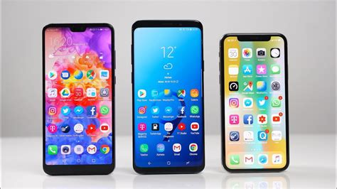 huawei p20 pro vs samsung galaxy s9 vs apple iphone x benchmark swagtab