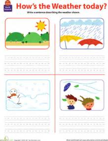write about the weather worksheet education com