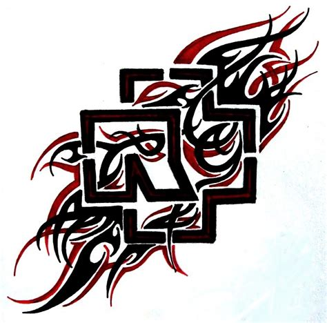 rammstein logo tribal by weedenstein on deviantart