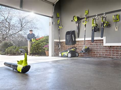 Hang Lawn Mower In Garage by Ryobi Tools