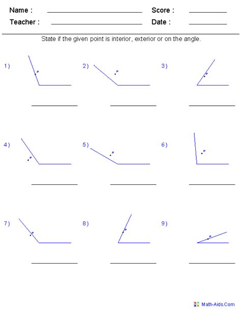interior and exterior angles worksheet printable worksheets 187 interior and exterior angles of