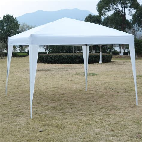 white gazebo 10 x 10 ez pop up canopy tent gazebo