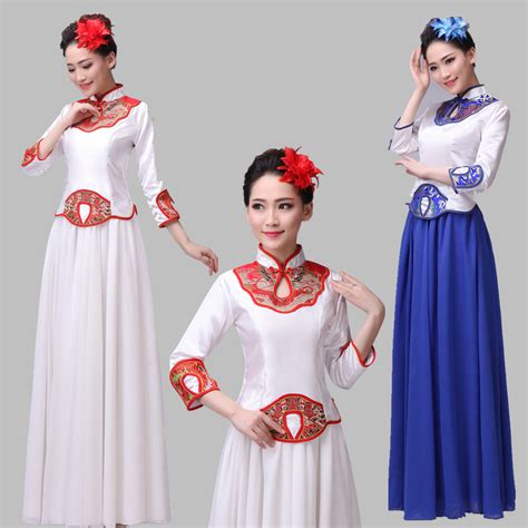 chinese dance styles blue and white chinese style classical dance clothing
