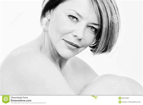 attractive middle aged women dark hair mature woman portrait stock photo image of background