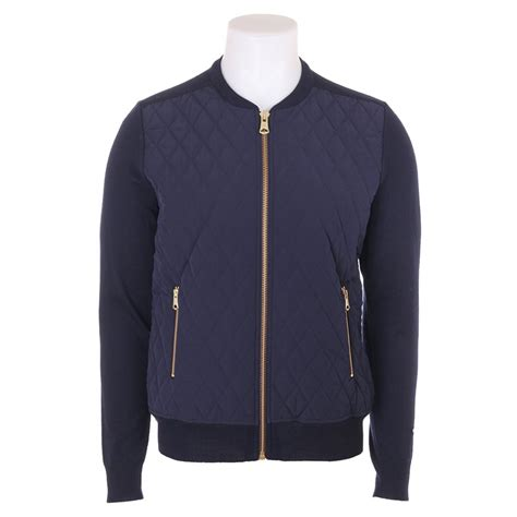 Navy Quilted Jacket With by J Lindeberg J Lindeberg Quilted Bomber Jacket With Knitted