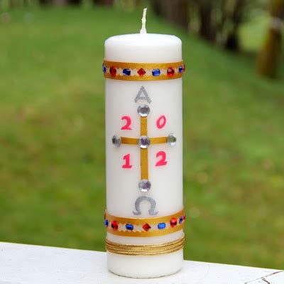 Garden Arts And Crafts - shower of roses creating our paschal candle easter 2012