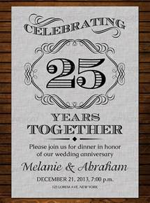 25th anniversary invitations templates 15 aniversary invitation templates free psd format