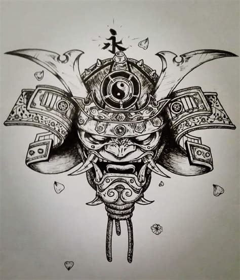 oni samurai tattoo drawing by alberik arttattoo on deviantart