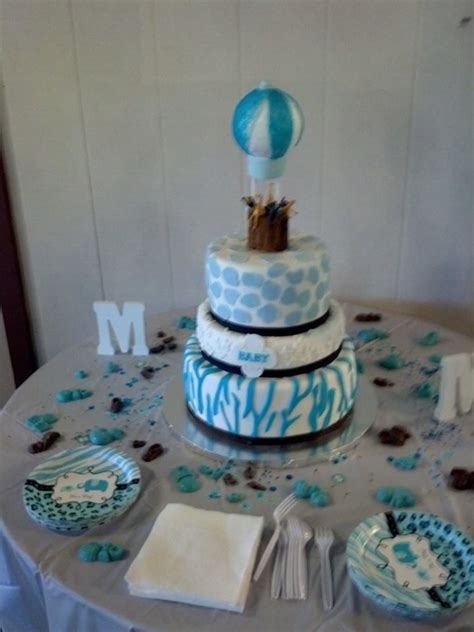 Leopard Baby Shower Cakes by Blue Zebra Leopard Baby Shower Cake Cakecentral