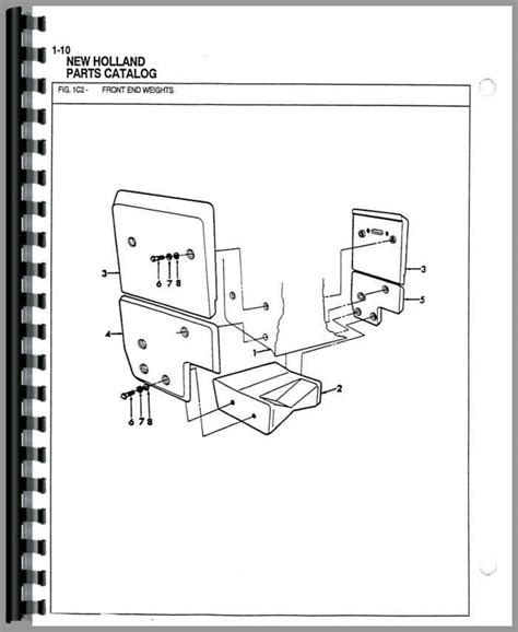 backhoe parts diagram ford 555b industrial tractor parts manual