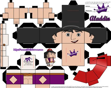Disney Papercraft Templates - cubeecraft of rat from disney s