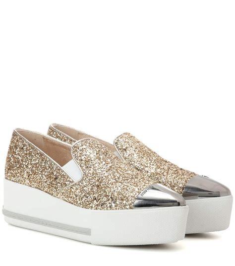 Miu Miu Doble Slipon miu miu glitter platform slip on sneakers