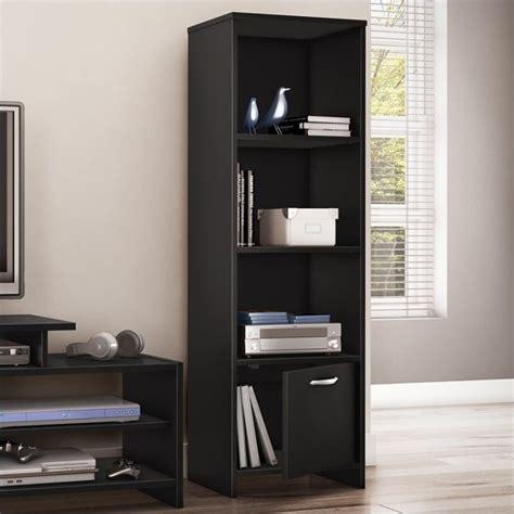 south shore step 1 shelf bookcase south shore step one shelf bookcase in pure black 3107652