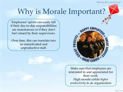 Office Morale by Staff Morale And Motivation
