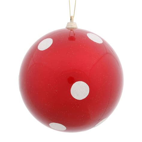 polka dot christmas ball ornament vck4369