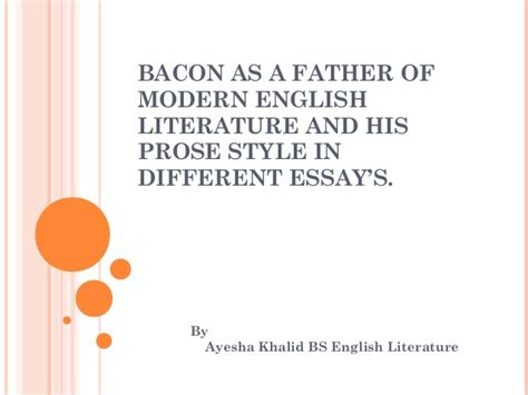 modernist themes in british literature write critical note on bacon essay titled of studies