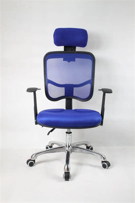 blue mesh computer chair designer adjustable reclining executive office computer