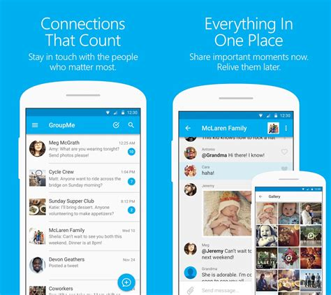 groupme for android microsoft updates groupme app for android with material design mspoweruser