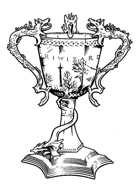 harry potter quidditch coloring pages free harry potter coloring pages triwizard cup harry