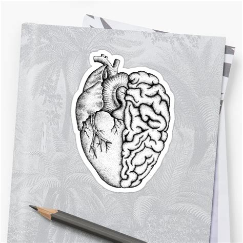 1449492126 heart and brain calendar quot heart and brain quot stickers by kristian nicho redbubble