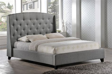 grey beds laguna tufted upholstered platform bed in grey fabric
