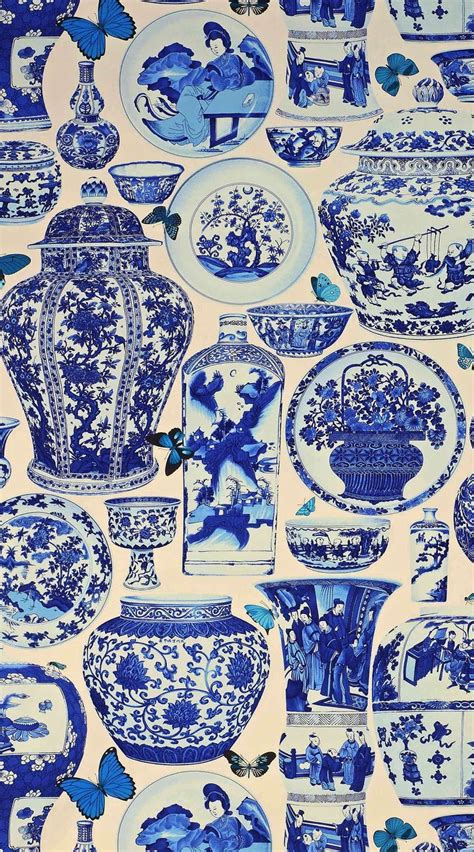 pattern library indigo jardin bleu fabric in indigo from manual canovas quot design