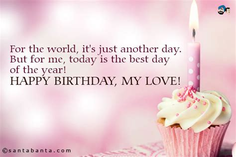 Birthday Quotes For Lover In Happy Birthday My Love Quotes Quotesgram