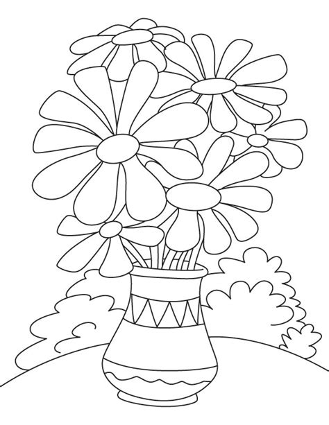 coloring pages of flowers in a pot daisy flower pot coloring page vocales pinterest