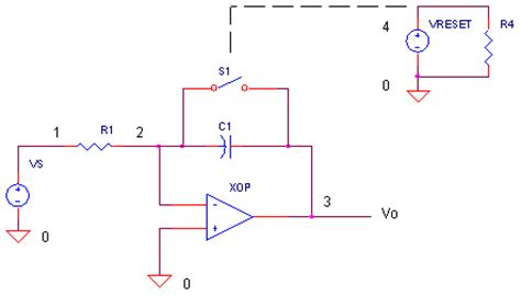 how does integrator circuit work op integrator