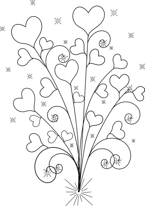 heart tree coloring page beyond the fringe more valentine s digital freebies