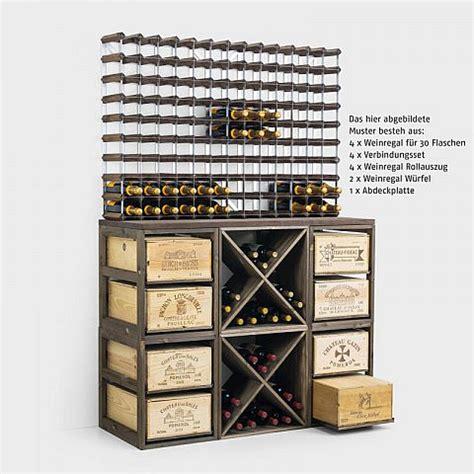 Weinregal Aus Weinkisten weinregal mit rollauszug f 252 r 2 weinkisten biber