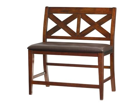 bench omaha standard furniture omaha x back bench in saddle brown