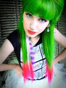 green hair color with green hair ign boards