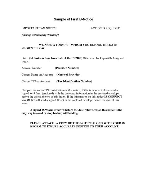 10 Best Images Of Irs B Notice Letter Sle Irs Audit Notice Letter Irs First B Notice B Notice Form Template