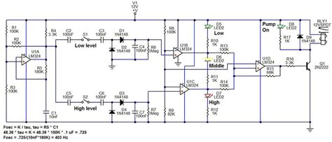 sump or fill controller circuit diagram design