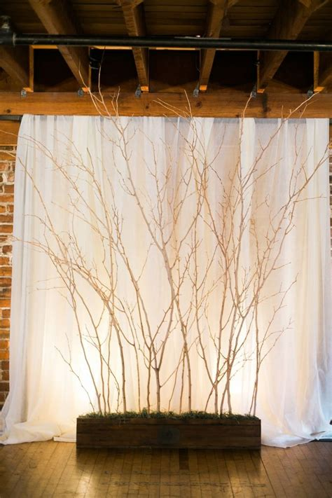 Wedding Backdrop Trees 30 chic rustic wedding ideas with tree branches tulle