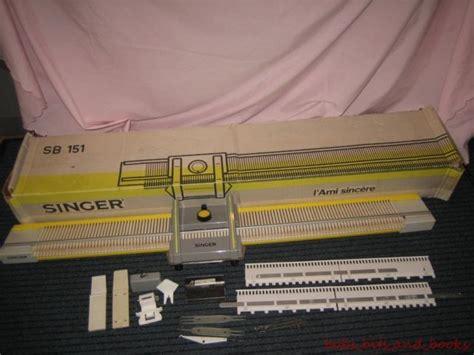 chunky knitting machine singer sb 151 knitting machine boxed chunky knitting